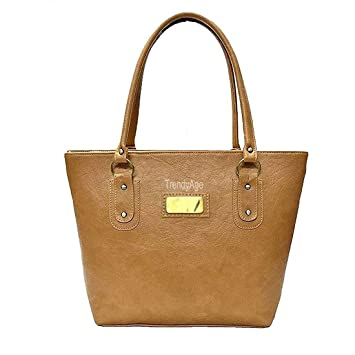 108f59967712e9 Buy TrendyAge - Top Women Fashion Handbag, Stylish Leather Ladies Handbag,  Premium PU Leather Women's Handbag (Light Brown Color) Online at Low Prices  in ...