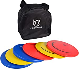 CROWN ME Disc Golf Set with 6 Discs and Starter Disc Golf Bag – Fairway Driver, Mid-Range, Putter Disc