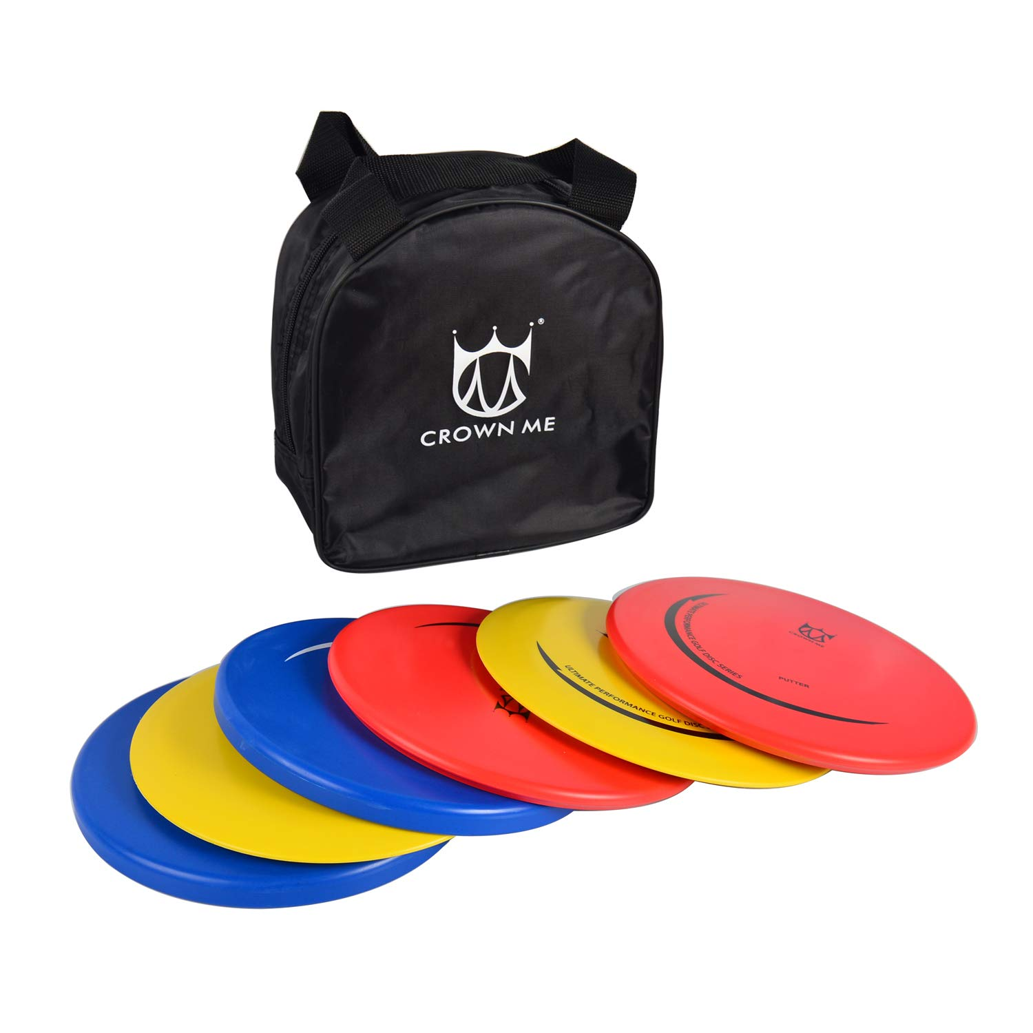 CROWN ME Disc Golf Set with 6 Discs and Starter Disc Golf Bag - DX Distance Driver, Fairway Driver, Mid-Range, Putter Disc by CROWN ME