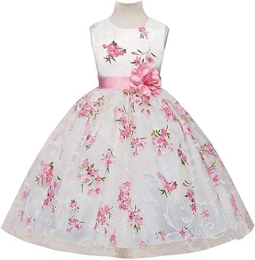 WTDlove Falda Infantil Estampado de niñas Vestido Princesa Vestido ...
