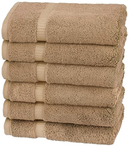Pinzon Organic Cotton Hand Towels , Latte