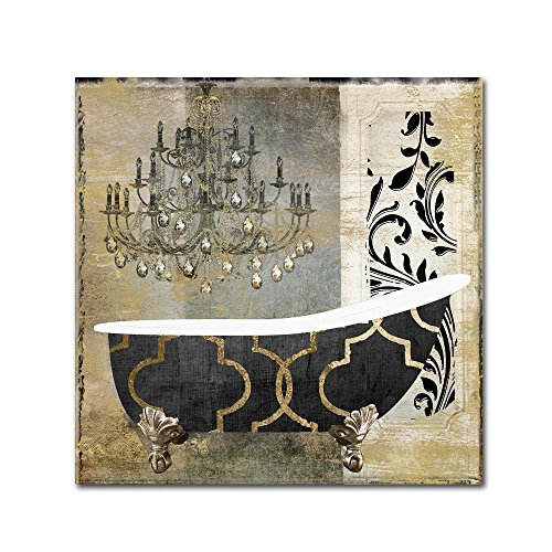 Paris Bath II by Color Bakery, 24x24-Inch Canvas Wall Art