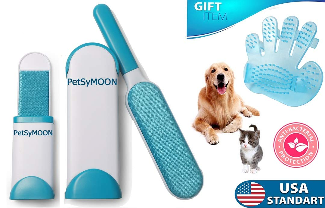 Pet Fur and Lint Remover Brushes |Wizard As Seen On TV|Dog Cat Hair Roller Cleaner for Clothing Furniture Car|Reusable Cleaning Animal Lifter Sponge Tape Laundry Sticky Sweeper|Gift Grooming Glove