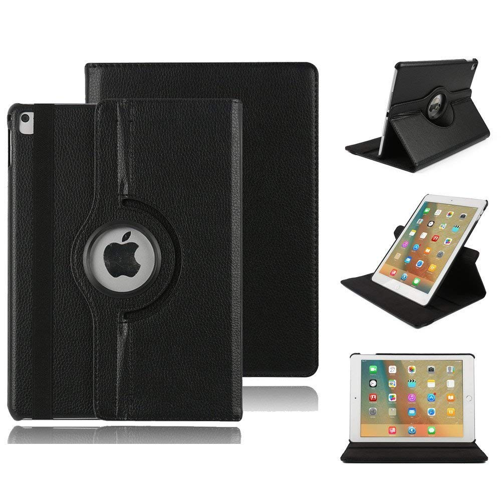 Case Cover for iPad Mini 5 ( 2019 Release), Fashion Smart Lightweight Cover Slim Sleeve 360 Degree Rotating Case Protection Rugged Protective Case Smart Folio Stand Cover for iPad 7.9 inch(Black)