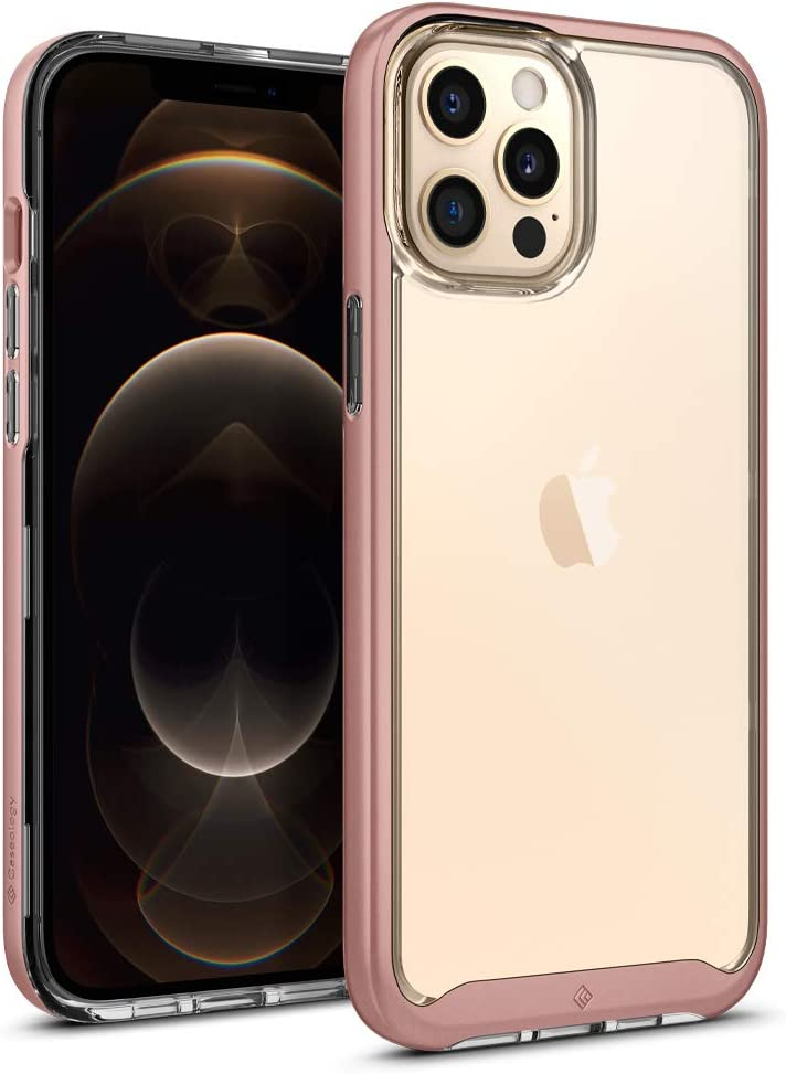 Caseology Skyfall Compatible with iPhone 12 Pro Max Case (2020) - Rose Gold