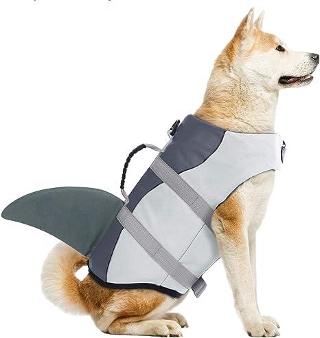 Dog Life Jacket pet Dog Life Jacket Clothes Dog Life Vest Protective Cover pet Dog Swimming Life Jacket Summer Swimwear Dog Vest