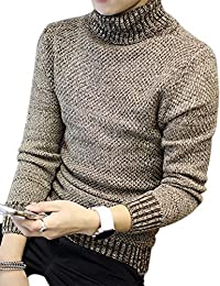 Gprince Men's Pullover Turtleneck Knitwear Sweater for Autumn Winter
