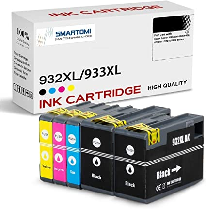 SMARTOMI 932XL 933XL Pack de 5 compatibles con Cartuchos de Tinta ...