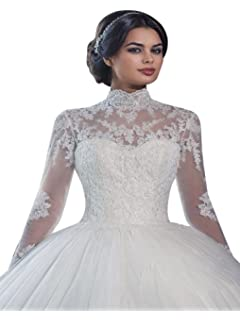 fccc5c1335830 VERNASSA A-line Bridal Dresses Long Sleeves Off The Shoulder Lace ...