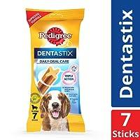 Pedigree Dentastix, Oral Care Dog Treat for Adult Medium Breed (10-25kg) Dogs, 180 g Weekly (7 Sticks)