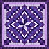 Easy Quilt Kit Faceted Star/Purple/Queen/EXPEDITED SHIPPING