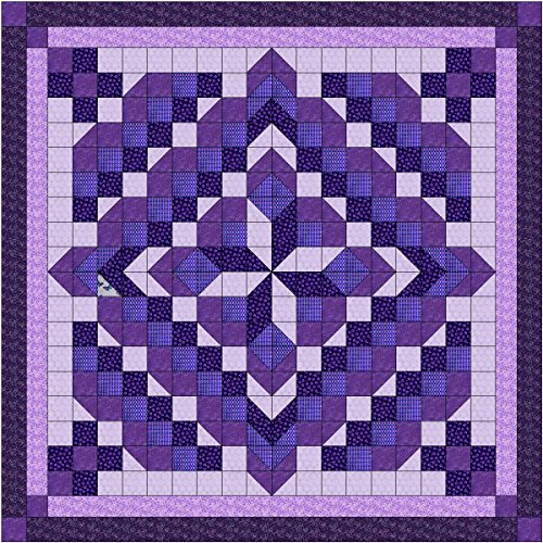 Easy Quilt Kit Faceted Star/Purple/Queen/EXPEDITED SHIPPING by Galaxy
