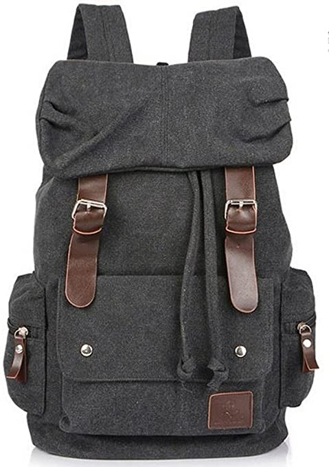 Eshops Canvas Casual Backpack for Women   Girls Boys Backpacks for Middle  School College Book Bags 72080204f