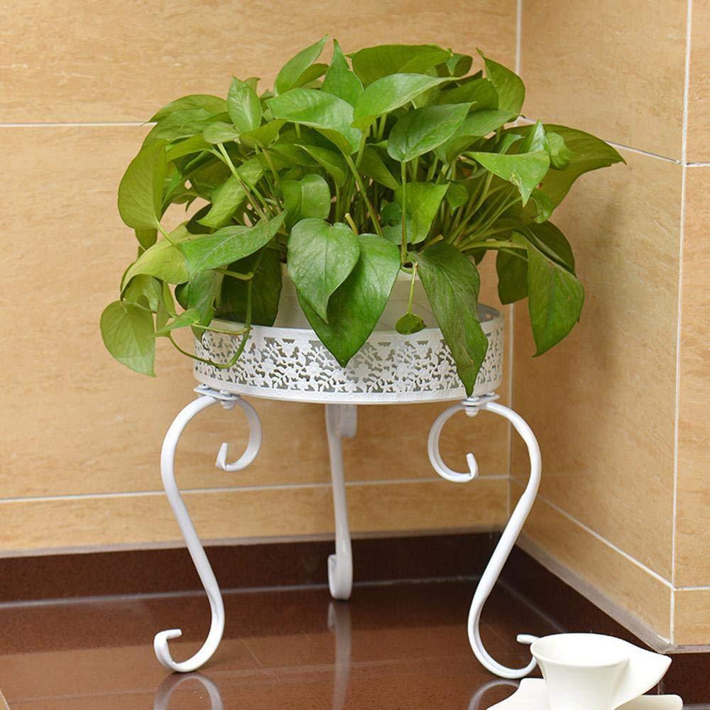 Yunfeng Soporte de Flores, Hierro Arte balcón balcón balcón Verde, Flor, Rosa Soporte de Suelo araña Bonsai Maceta Estante 32  25cm deb212
