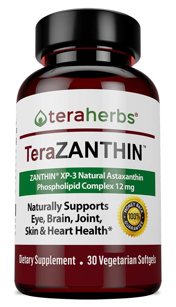 Natural Astaxanthin complex ZANTHIN® XP-3 Phospholipid Complex 12 mg 30 Vegetarian Softgels