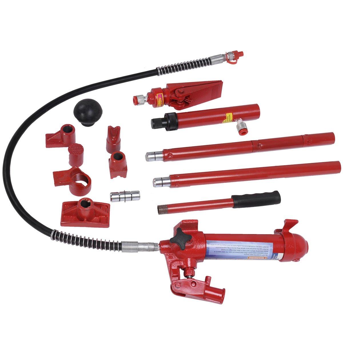 Goplus 4 Ton Porta Power Hydraulic Jack Body Frame Repair Kit Auto Shop Tool Heavy Set w/ Carrying Case by Goplus (Image #3)