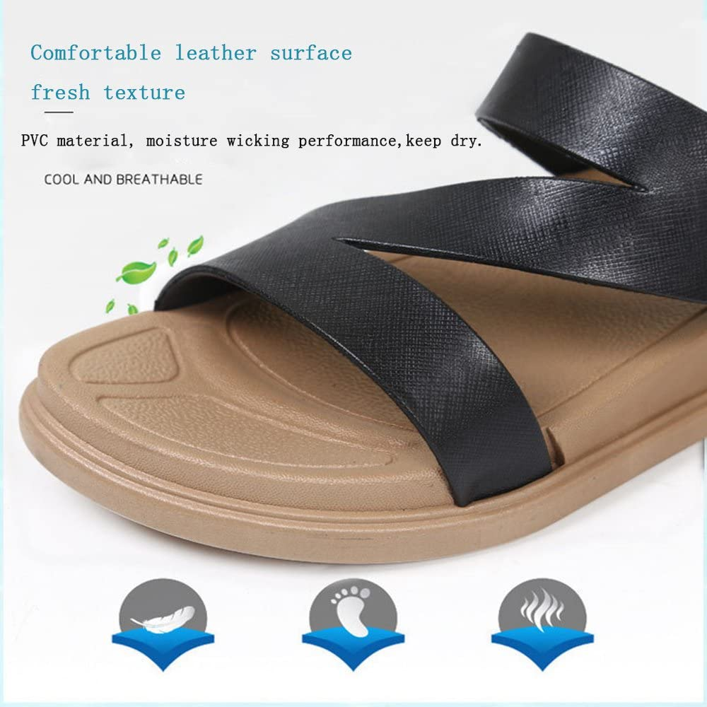 WILLIAM/&KATE Spring Summer Bathroom Slippers Men/&Women Indoor Household Anti-Skid Bathroom Thick-Soled Soft Bottom Couple Slippers 8 Mens US//43, Brown