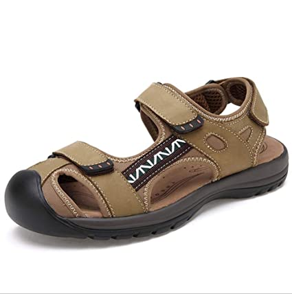 606aad1bba552 Amazon.com : GHFJDO Men Hiking Sandals, Outdoor Sports Closed Toe ...