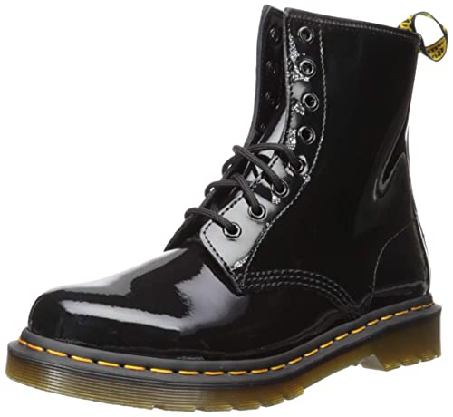 92954914238 Dr. Martens Women's 1460 8-Eye Boot Patent,Black Patent Lamper,UK 6.5 M