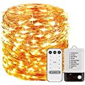 Foxcesd Fairy Lights Battery Operated 33 ft 100 LEDS