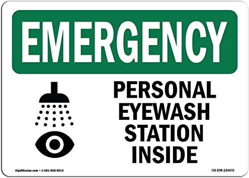 Construction Site Warehouse /& Shop Area Eye Wash Station Protect Your Business OSHA Emergency Sign /Made in The USA Vinyl Label Decal