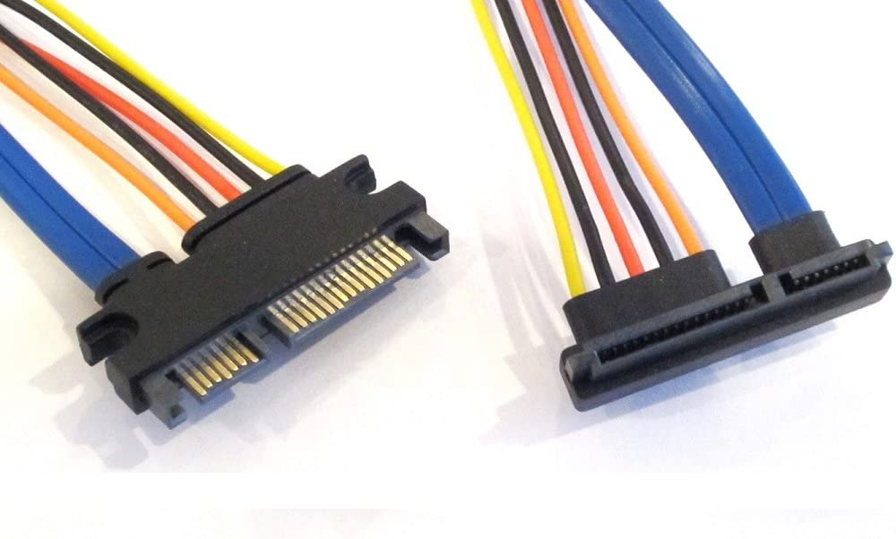 12 Inches 22 Pin SATA Female to 22 Pin SATA Female Power and Data Cable