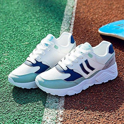 LVZAIXI Zapatos zapatos deportivos versión coreana estudiante Ultra fuego zapatos Zapatos de mujer acogedor ( Color : Pink , Tamaño : EU39/UK6.5/CN40 ) Azul