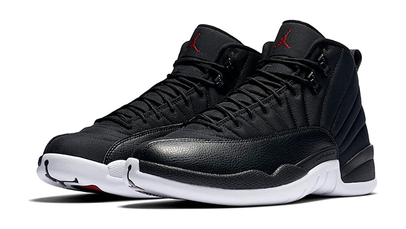 ccb20b6a8af306 Foot Locker House of Hoops Nike Air Jordan 12 Retro Black Nylon (Neoprene)  Black White-Gym Red 130690-004 September 10