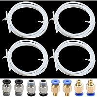 SPTwj 4 st PTFE-rör teflon (1 meter/vit) med 4 st PC4-M6 pneumatiska kontakter (blå) + 4 st PC4-M10 pneumatiska…