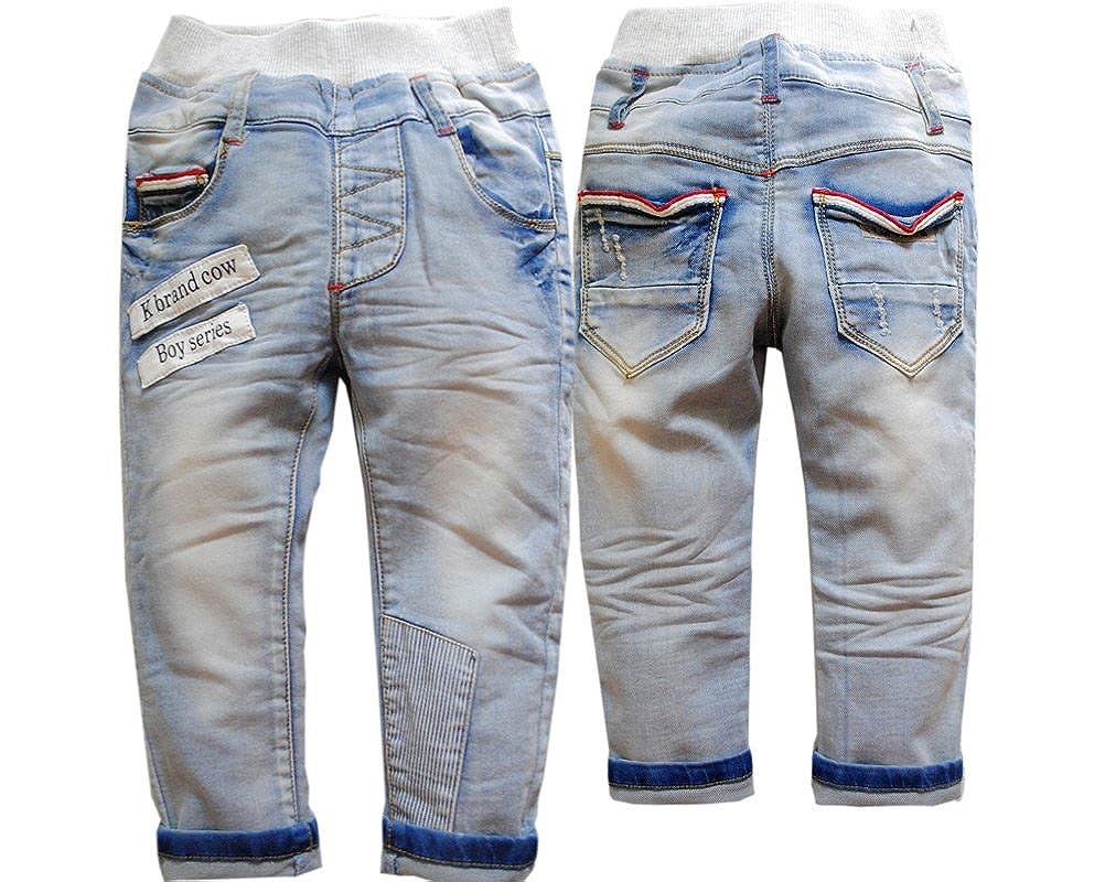 6e369e8cd Amazon.com  3708 spring soft denim trouser pants kids baby boys ...