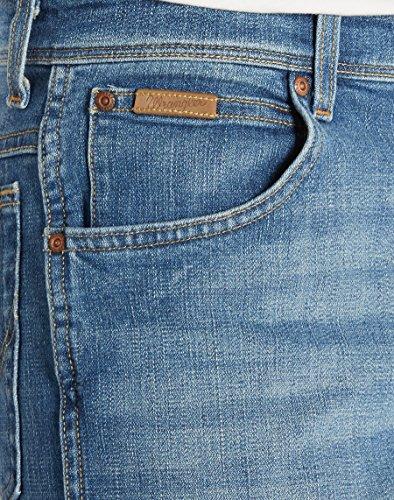 Jeans blue Texas Blu Worn Wrangler Broke Stretch Uomo TIxf01