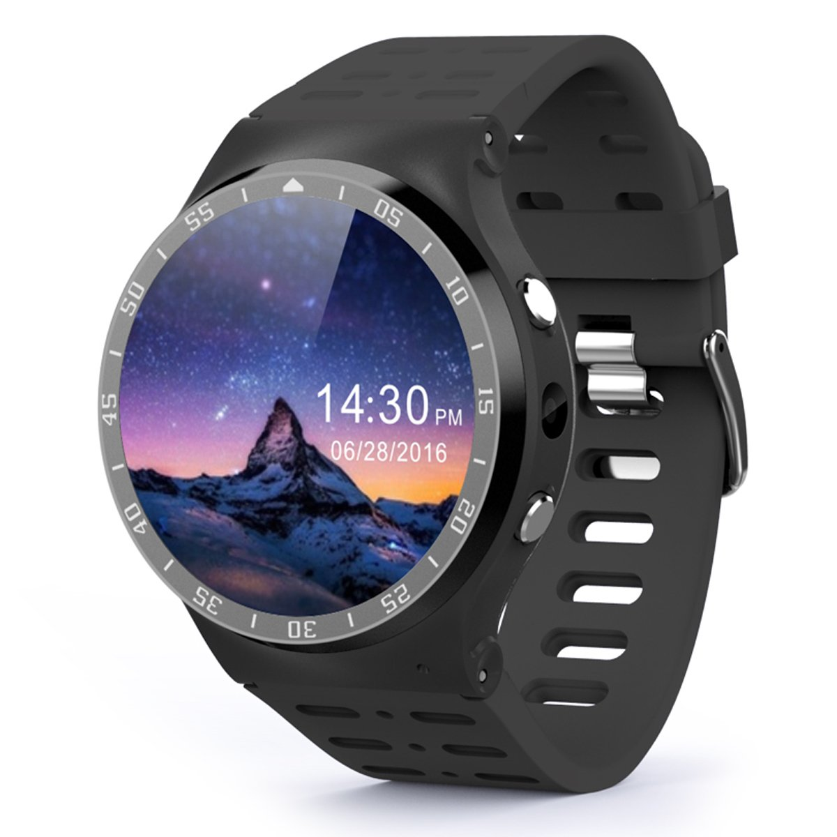 Android 5.1 Smart Watch Phone w/ 8GB ROM - Black