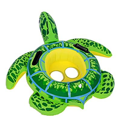 zhenyu Inflatable Swimming Pool Float Ring Float Toys for Baby Kids Frog Turtle Swimming Ring Circle Beach Sea Mattress Water (type1): Toys & Games [5Bkhe2002425]