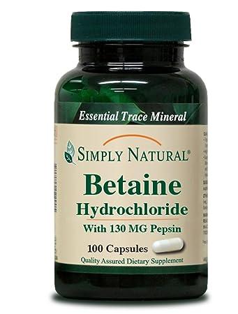 Amazon.com: Simplemente Natural betaína clorhidrato con ...