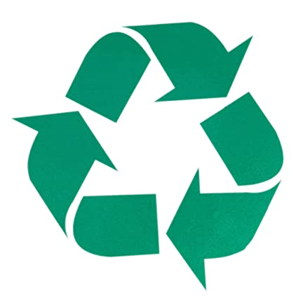amazon com huele 5 pack 5 inches self adhesive recycle symbol