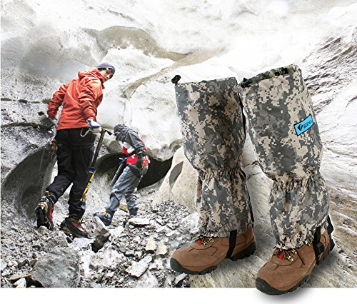 High Thicken Snow Leg Gaiters, Oumers Winter Keep Warm Waterproof Breathable Velcro Wraps Leg Boot Covers For Hiking Ski Climbing Hunting Walking Snowboard Snowshoeing Mountaineering Ice Equipment