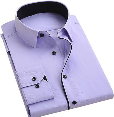 sfittm Hombre Camisa Business algodón Camisas décontracté ...
