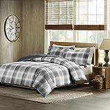 Woolrich Woodsman Softspun Down Alternative Mini Comforter Set, Full/Queen, Grey