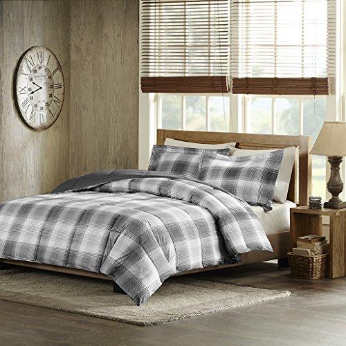 Woolrich Woodsman Softspun Down Alternative Mini Comforter Set, Full/Queen, Grey ()