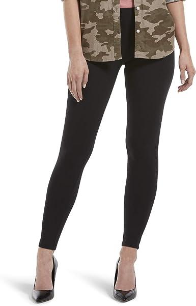Assorted Hosiery Hue Womens Wide Waistband Blackout Cotton Capri Leggings