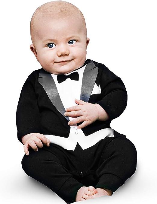 Original Swedish Design The Tiny Universe Baby Tuxedo Suit Onesie