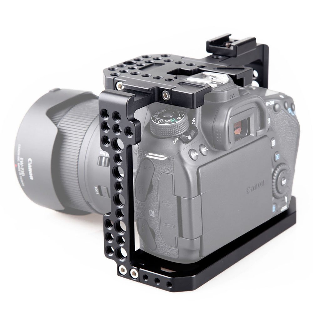 SMALLRIG Camera Cage for Canon EOS 80D with NATO Rail, Cold Shoe - 1789 by SMALLRIG (Image #6)