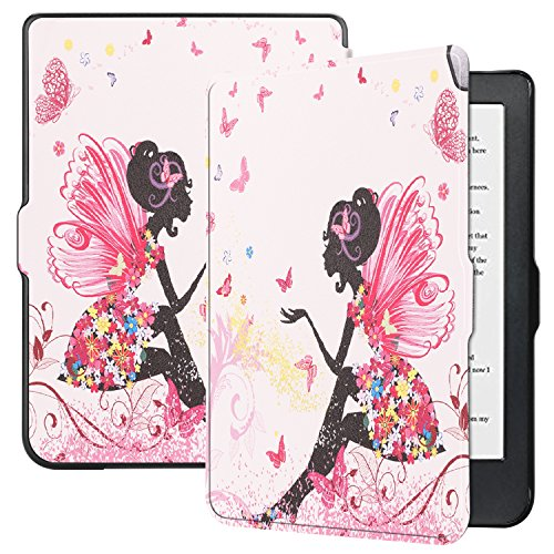 """Kobo Clara HD 6"""" E-Reader Case, Dteck Book Style Slim Lightweight Flip Folio Stand Case Cover with [Auto Wake/Sleep Feature] for Kobo Clara HD 6"""" E-Reader Tablet, Fairy"""