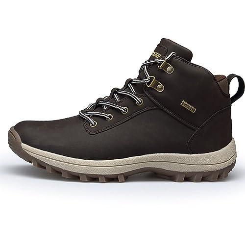 Fexkean Hombres Zapatillas de Senderismo Trekking y Senderismo Zapatos para Correr en Montaña y Asfalto Sneakers