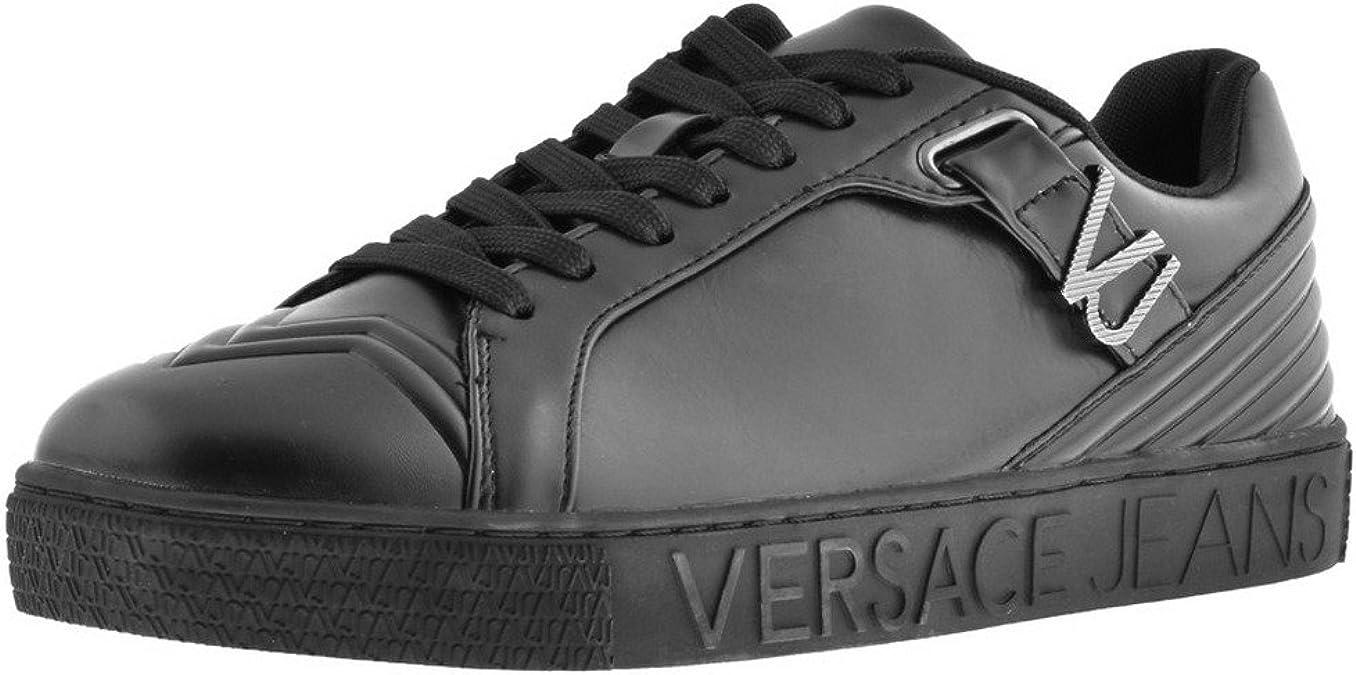 Mens Versace Jeans Logo Trainers Black