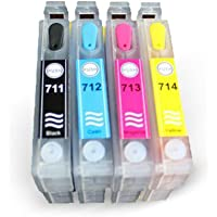 EPSON T0711-T0714 UYUMLU Kolay Dolan Kartuşlar (DOLU) -D78/ D92/ DX4000/ DX4450/ DX6050/ DX7450/ DX9400/ BX6000/ SX100/ SX115/ SX218/ SX405/ SX515/ DX4050/ DX5000/ DX7000/ DX8400/ DX9400/ S20/ SX105/ SX200/ SX400/ SX415/ SX600/ BX300/ BX310/ SX110/ SX20