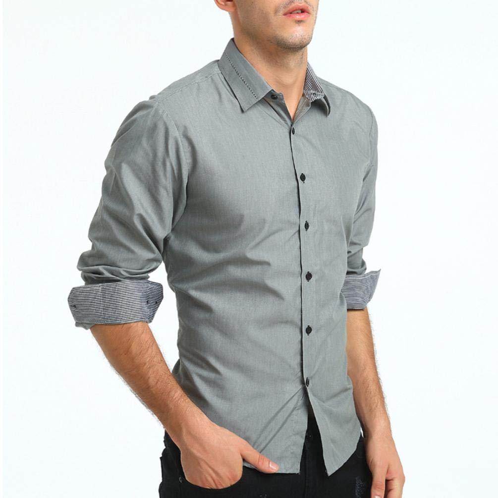Camisa para Hombre, Winwintom Fibra Hombre, Manga Larga, Slim Fit ...