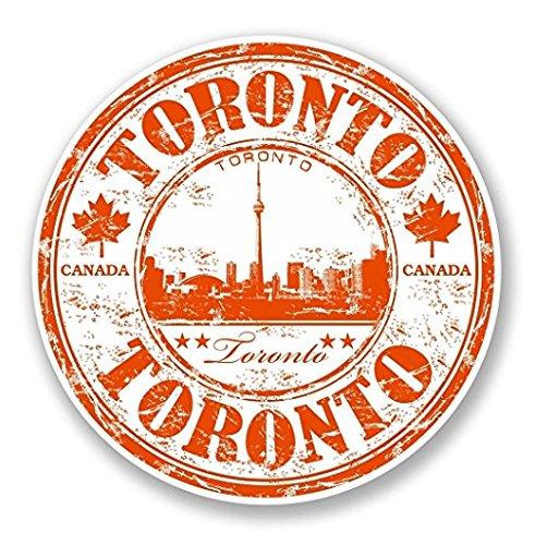 3 Pack - Toronto Canada Vinyl Sticker Decal - Sticker Graphic - Construction Toolbox, Hardhat, Lunchbox, Helmet, Mechanic, Luggage (Canada Toronto Hat)