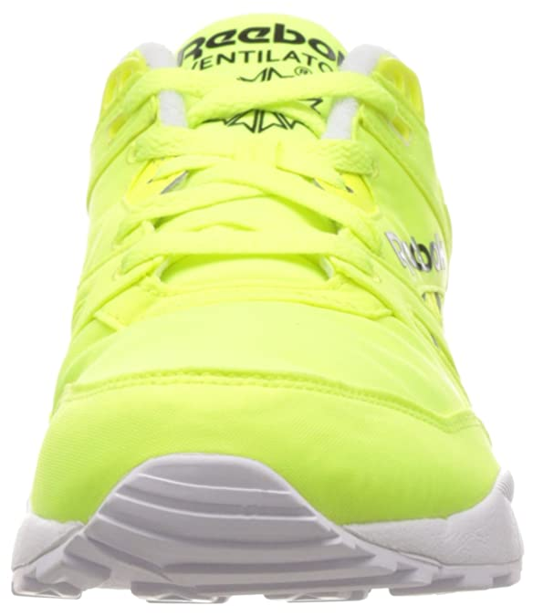 Reebok Ventilator Day GLO, Sneakers da Uomo, Gelb (Solar Yellow/White/Black), 46 EU