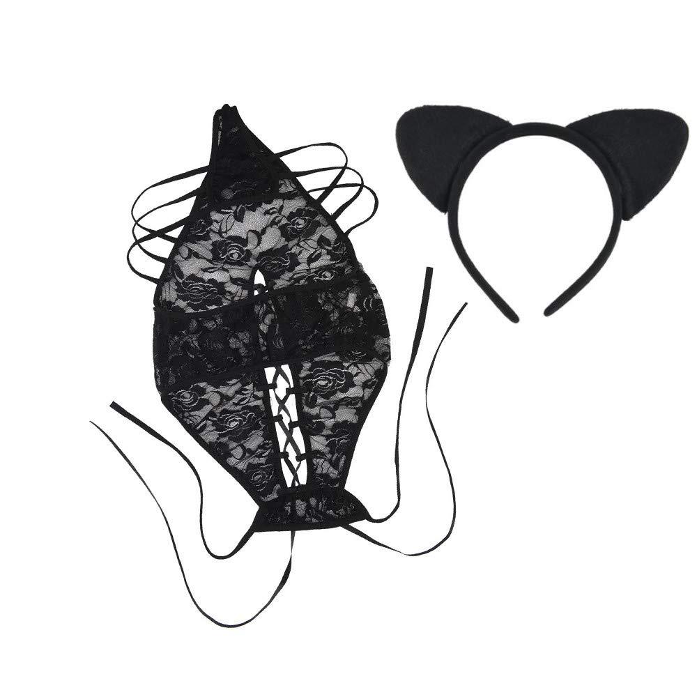 Amlaiworld Sexy Women Mesh Openwork Conjoined Lingerie Body Stocking Bodysuit One Piece Babydoll Nightwear Underwear